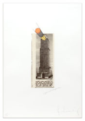 Equitable Building As A Pencil Sharpener by Claes Oldenburg at Krakow Witkin Gallery (IFPDA)