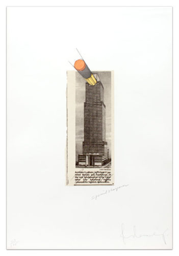 Equitable Building As A Pencil Sharpener by Claes Oldenburg at