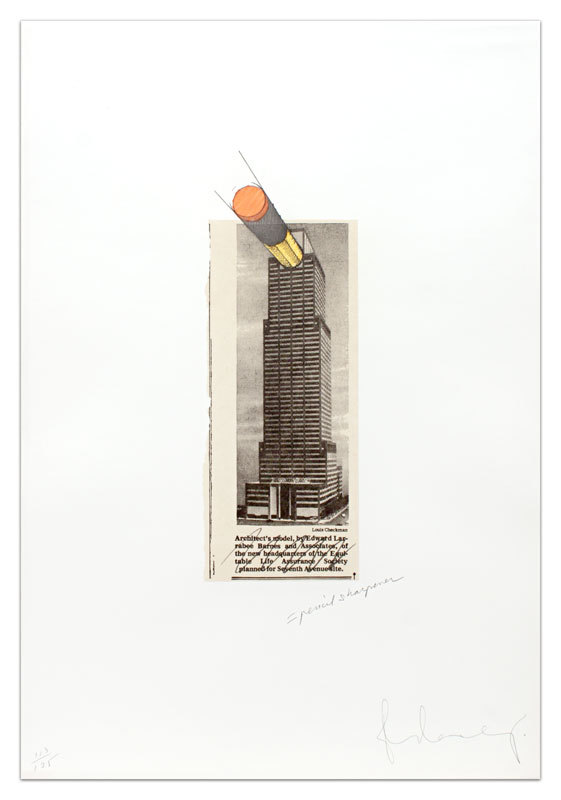 Equitable Building As A Pencil Sharpener by Claes Oldenburg