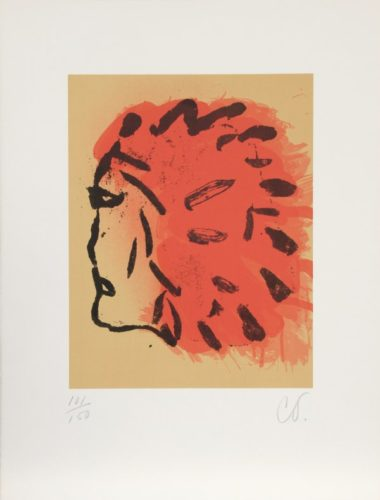Indian Head From Peace Portfolio by Claes Oldenburg at