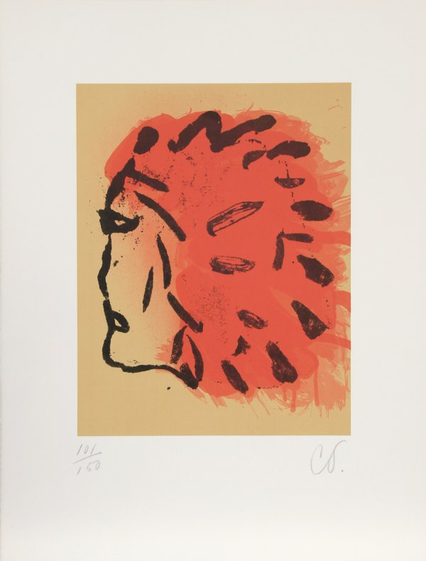 Indian Head From Peace Portfolio by Claes Oldenburg