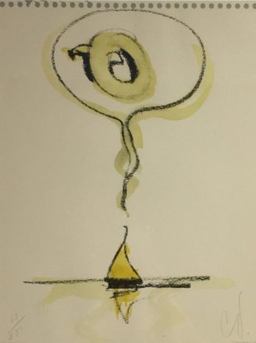 Sailboat Thinking Of Q by Claes Oldenburg