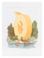 The Letter Q As Beach House With Sailboat by Claes Oldenburg at