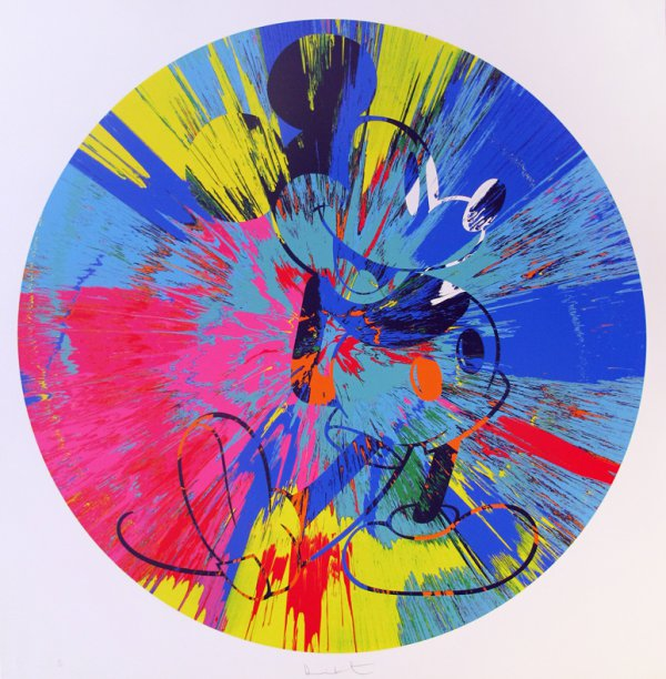 Beautiful Mickey (spin) by Damien Hirst