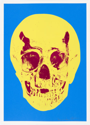 Cerulean Blue Pigment Yellow Royal Red Pop Up Skull by Damien Hirst at Damien Hirst