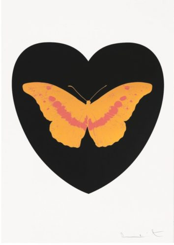 I Love You – Black/cool Gold/loganberry by Damien Hirst