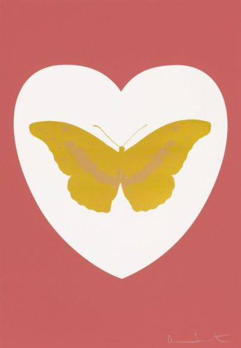 I Love You – White/coral/oriental Gold/cool Gold by Damien Hirst