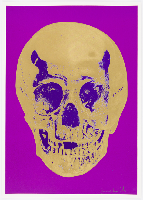 Long Life Purple African Gold Imperial Purple Skull by Damien Hirst