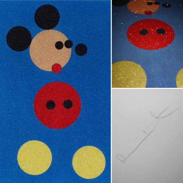 Mickey (blue Glitter) – Small by Damien Hirst
