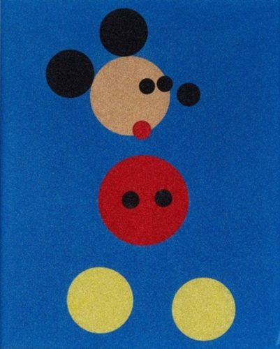 Mickey (blue Glitter) – Large by Damien Hirst at Damien Hirst