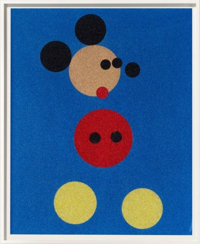 Mickey Mouse (glitter) by Damien Hirst