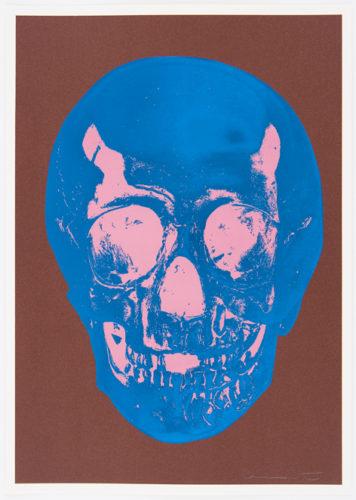 Milk Chocolate Brown True Blue Bubblegum Pink Skull by Damien Hirst at Damien Hirst