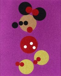 Minnie (pink Glitter) – Large by Damien Hirst at Lougher Contemporary