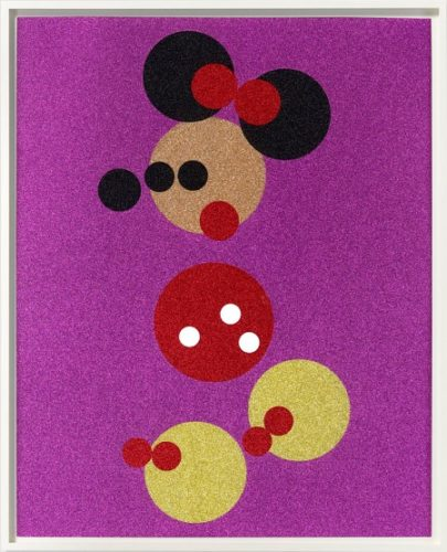 Minnie Mouse (glitter) by Damien Hirst
