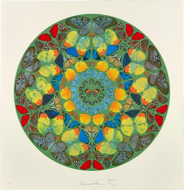 Psalm – Usque Quo, Domine Diamond Dust by Damien Hirst