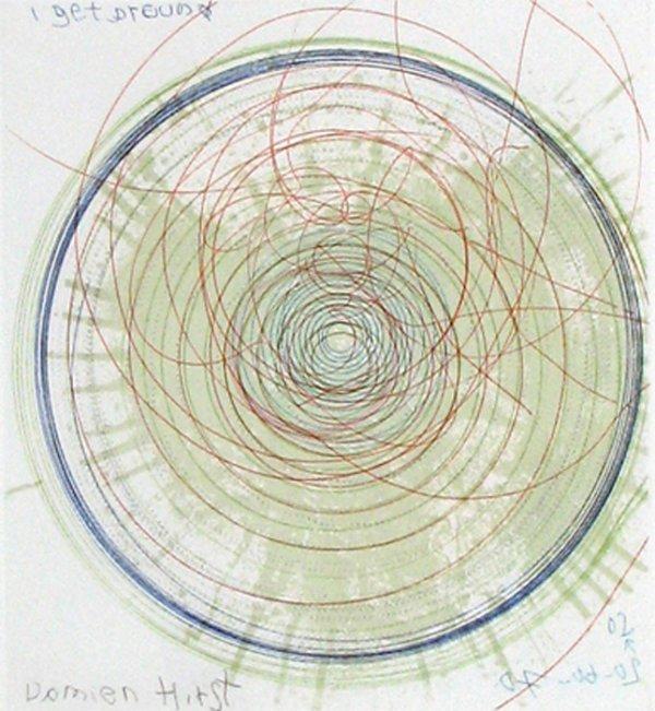 Spin, Burning Wheel by Damien Hirst
