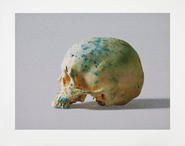 Studio Half Skull, Half Face (with Diamond Dust) by Damien Hirst at Damien Hirst