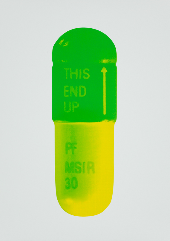 The Cure – Mint Blue/apple Green/lemon Yellow by Damien Hirst