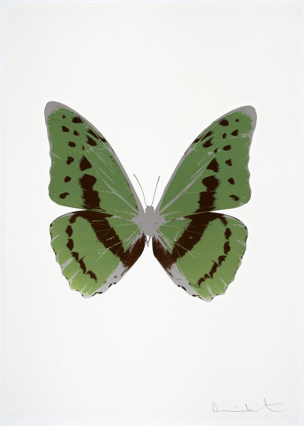 The Souls Iii – Leaf Green/chocolate/silver Gloss by Damien Hirst