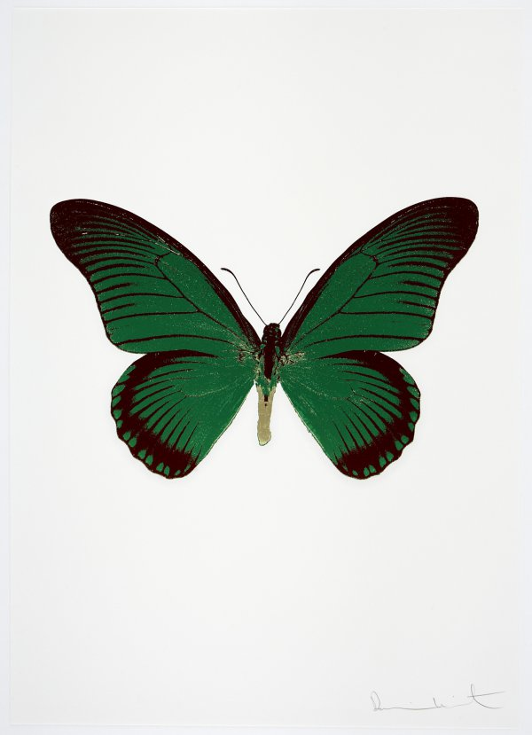 The Souls Iv – Emerald Green/cool Gold/burgundy by Damien Hirst