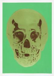 Viridian Leaf Green Chocolate Skull by Damien Hirst at