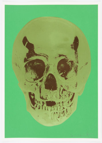 Viridian Leaf Green Chocolate Skull by Damien Hirst at