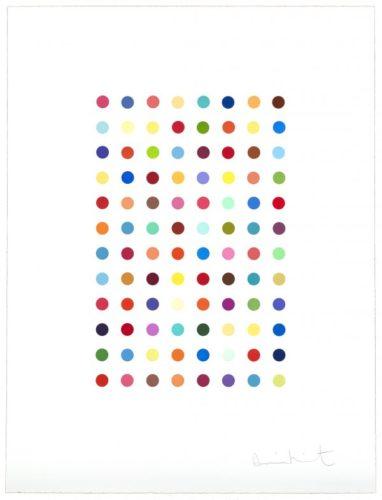 Xylene Cyanol Dye Solution by Damien Hirst