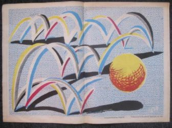 A Bounce For Bradford by David Hockney at