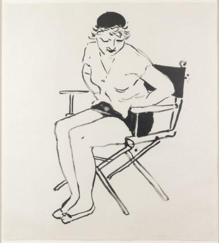 Celia In The Director's Chair by David Hockney at David Hockney