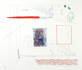 Etching Is The Subject by David Hockney