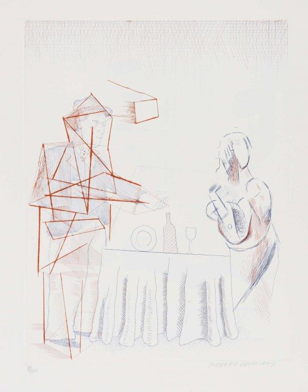 Figures With Still Life by David Hockney