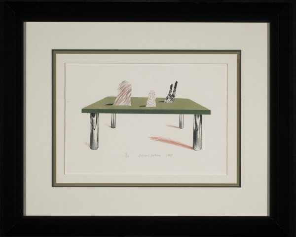 Glass Table With Objects 1969 by David Hockney at