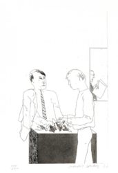He Enquired After The Quality by David Hockney at
