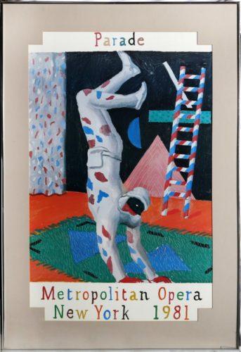 Parade, Metropolitan Opera by David Hockney at