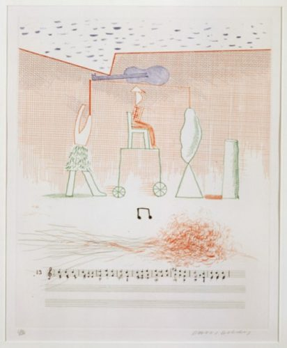 Parade (the Blue Guitar) by David Hockney