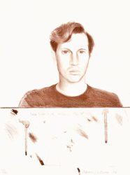 Peter Schlesinger by David Hockney at