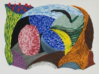 Blue Hang Cliff by David Hockney at Kenneth A. Friedman & Co.