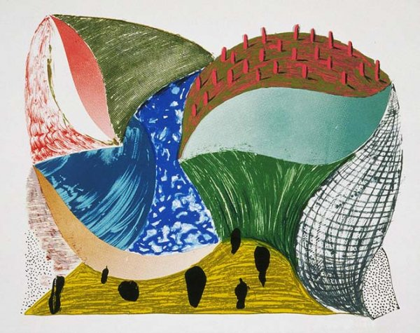 Gorge D'incre by David Hockney at