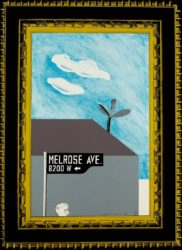 Picture Of Melrose Avenue In An Ornate Gold Frame by David Hockney at