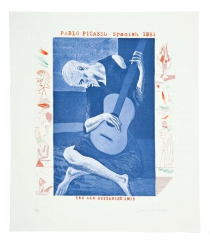 The Old Guitarist by David Hockney