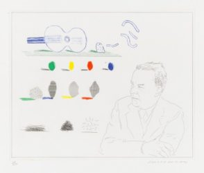 The Poet ( Wallace Stevens) by David Hockney at