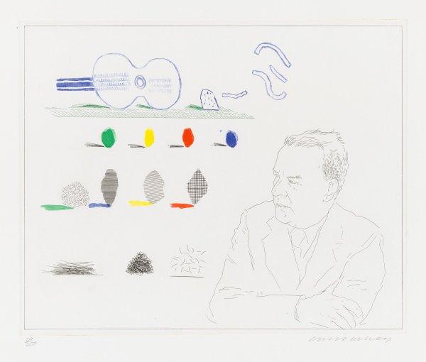 The Poet ( Wallace Stevens) by David Hockney