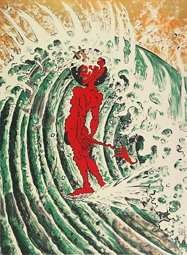 """""""surf Naked"""" by Don Ed Hardy"""
