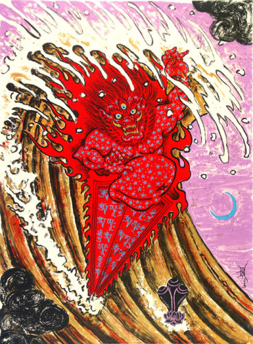 """""""wave Warrior"""" by Don Ed Hardy"""