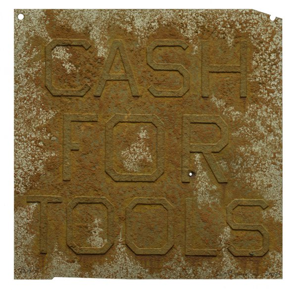 Cash For Tools 2, From Rusty Signs by Ed Ruscha