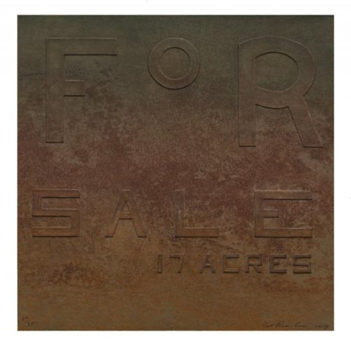 For Sale 17 Acres, From Rusty Signs by Ed Ruscha