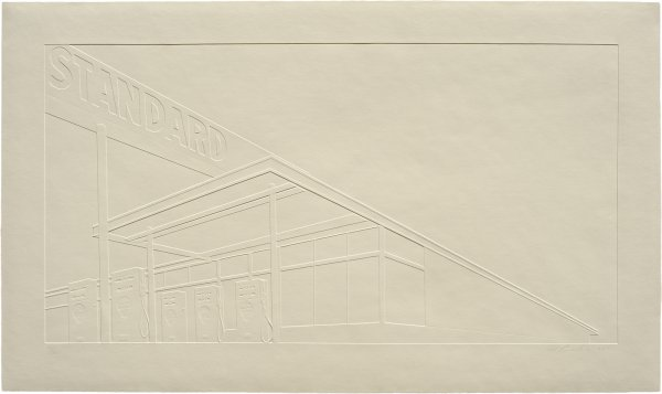 Ghost Station by Ed Ruscha at