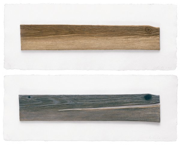 New Wood, Old Wood by Ed Ruscha at