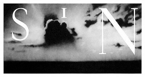 Sin / Withouth by Ed Ruscha