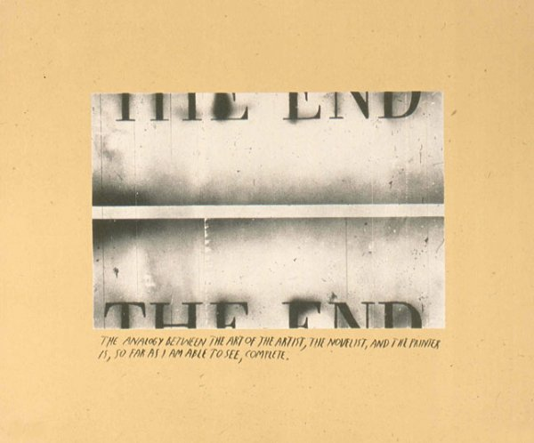 The End, State I by Ed Ruscha at